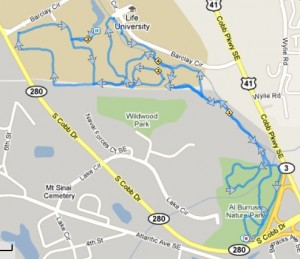 A L Burruss / Life University Trail Map