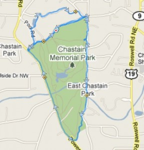 Chastain Park Trail Map