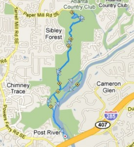 Cochran shoals sope creek trail map the river for Cochran shoals